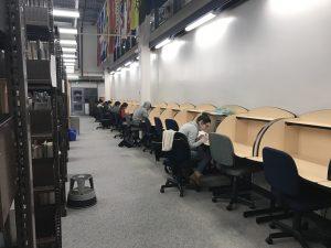 Sheridan students hard at work at the Trafalgar Campus.