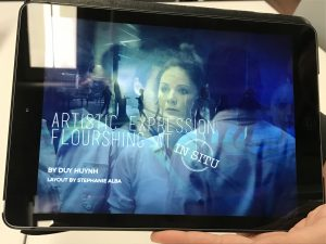 One of the many tablet designs created by a Sheridan student. (photo by Paige Ogden)