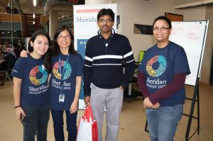 Wai Chu Cheng worked with a team of volunteers. From left, Imai Madridejos, Wai Chu Cheng, Abhik Misra, and Denise Jaikaran.