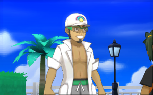 The new professor, Professor Kukui, welcomes players to the Alola region (Photo: The Pokemon Company International)